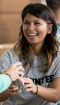 image of Women Volunteer smiling